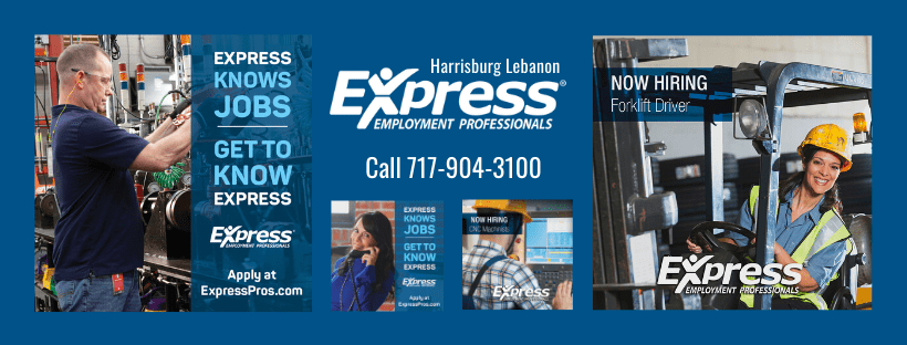 Click here and Apply Today! at Express Employment Harrisburg Lebanon