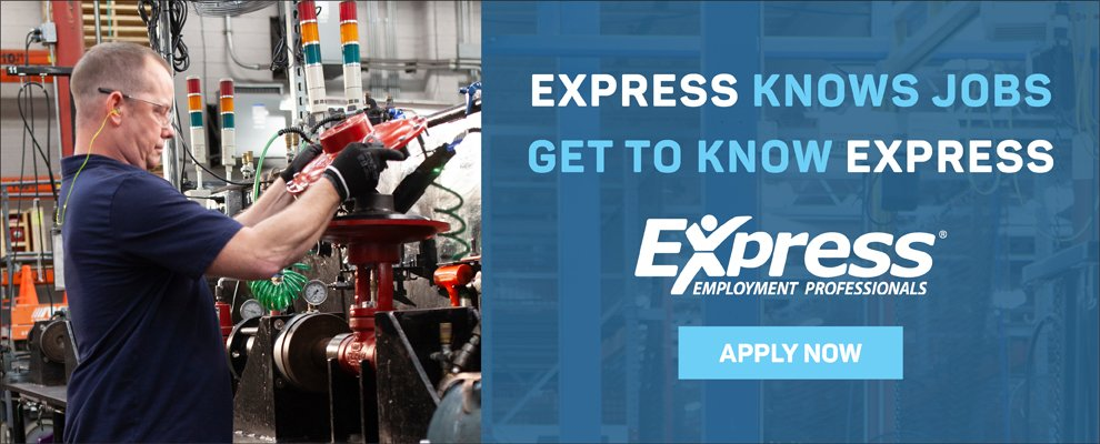 1st and 2nd Shift Machine Operator at Express Employment Professionals – Headquarters