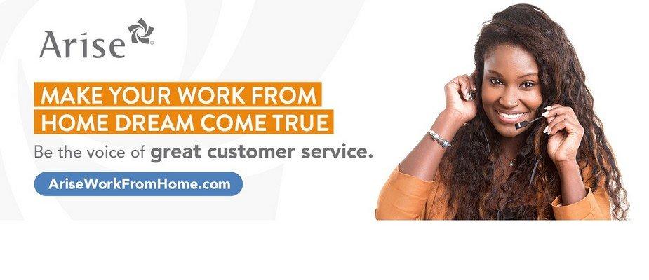 Remote Customer Service Representative  – Work at Home at Arise Virtual Solutions Inc.