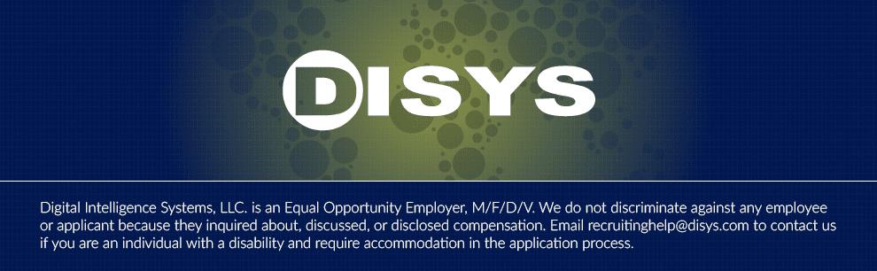 Senior Cloud Solutions Engineer at DISYS